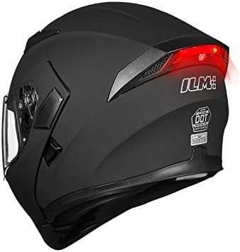 I.L.M. Motorcycle Dual Visor Flip Up Modular Full Face Helmet